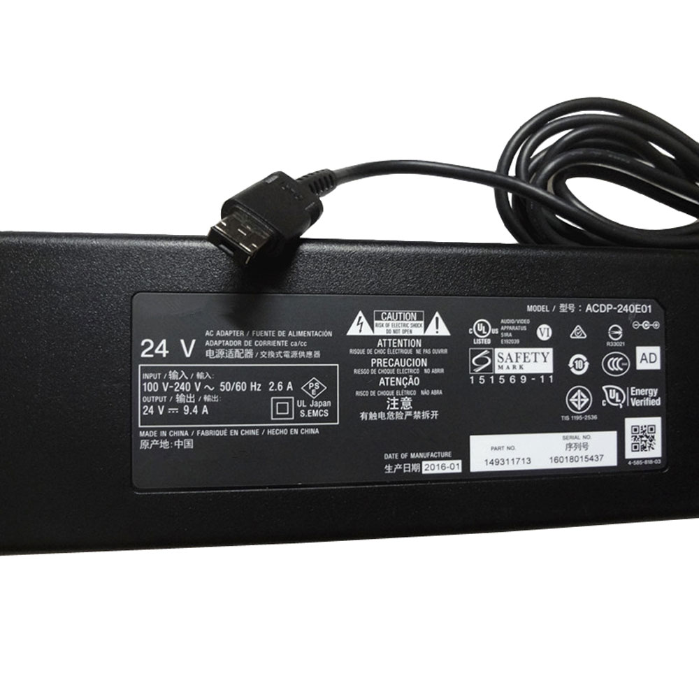 Batterie pour AC 100V-240V 2.6A 50-60Hz(for worldwide use)  24V--9.4A/10A,240W Sony XBR-55X930E 55