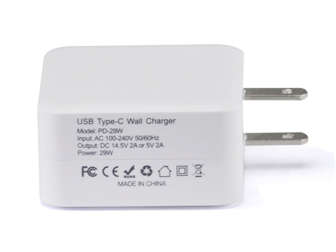 Batterie pour 100-240V 50/60Hz 14.5V 2A(USB-PD) 5.2V 2.4A 29W Apple Macbook 12 inch 14.5V