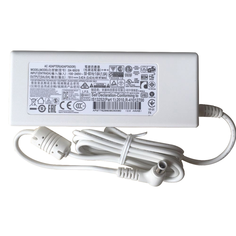 Batterie pour 100-240V 50-60Hz (for worldwide use) 19V 3.42A 65W  White LG Innotek PSAB-L101A DA-48F19 32MB24