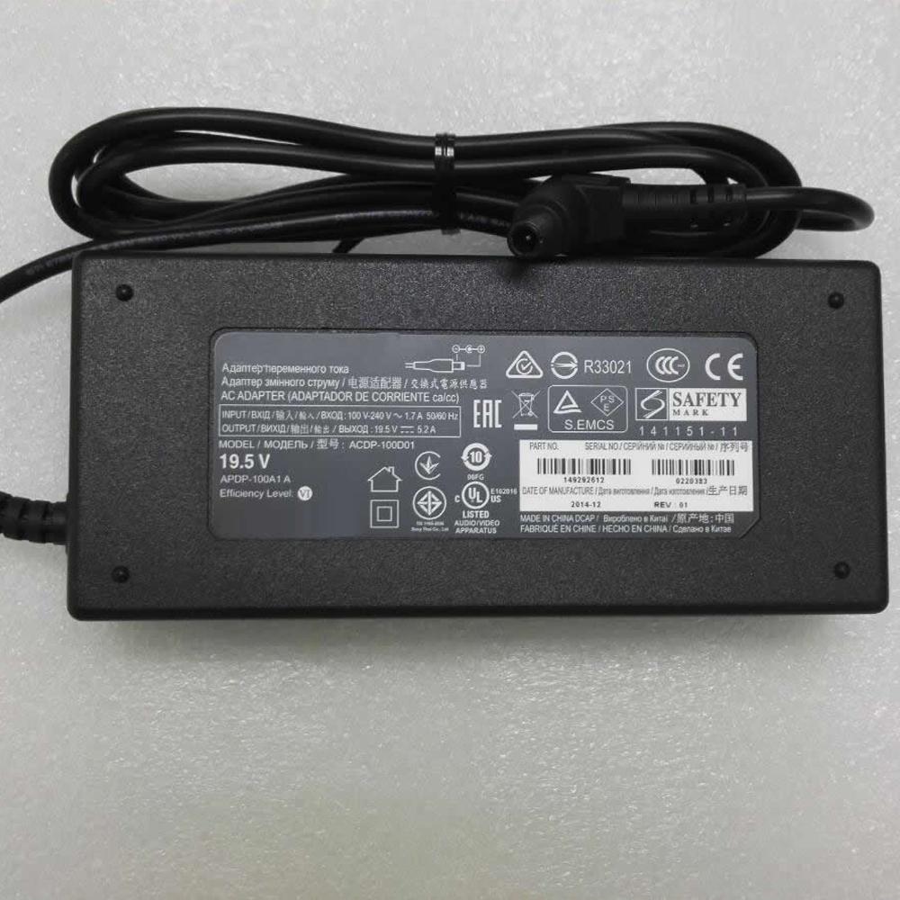 Batterie pour 100 - 240V 2.0A 50~ 60Hz 19.5V ~ 5.2A  , 100Watt Sony Vaio PCGA AC19V4 ACDP-100D01