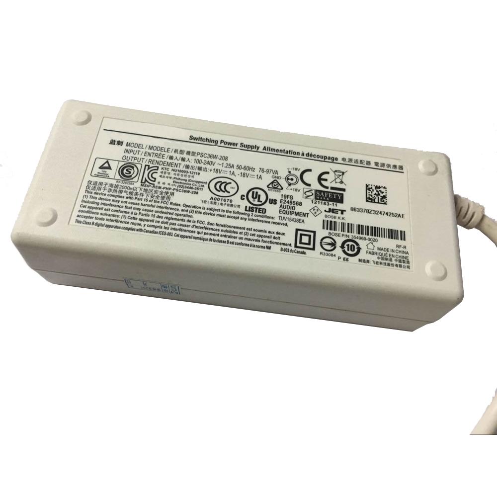 Batterie pour 100-240V  50-60Hz (for worldwide use) 18V,1A,18w Bose SoundDock serie 2 & 3 *ROUND PLUG