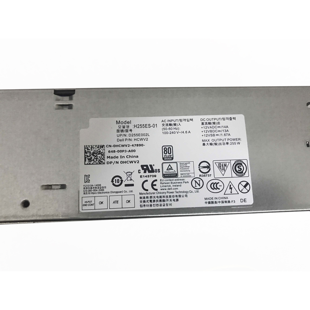 Batterie pour 100-240V ~/ 4.6A, 50-60Hz +12VADC==/14A Dell Optiplex 3020 7020 9020 SFF
