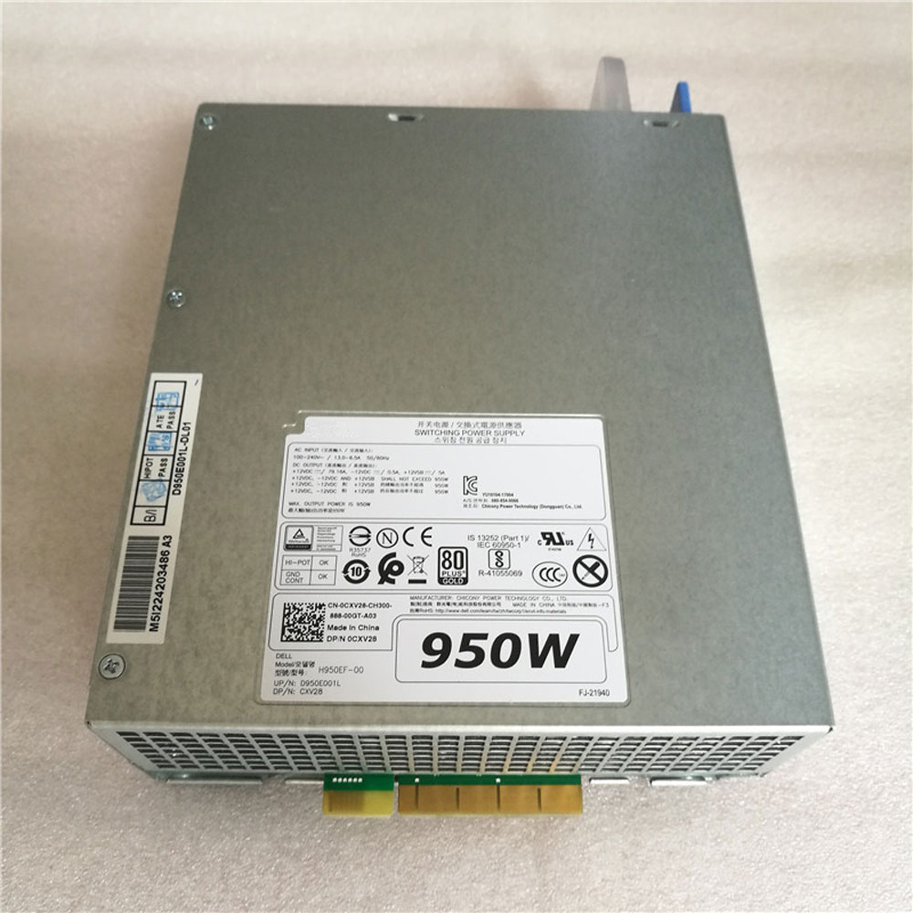 Batterie pour 100-240V~13.06-6.5A  50*60Hz +12VDC==/79.16A,-12VDC==/0.5A,+12VSB==/5A DELL T5820 T7820 T7920
